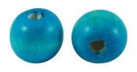 Træperler 12 mm blå 20 stk