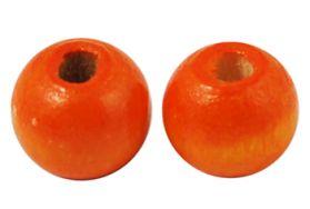 Træperler 9 mm orange 20 stk