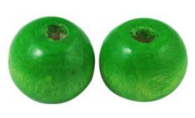 Træperler 9 mm grøn 20 stk