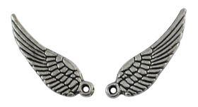 Vedhæng vinge antik sølv farve 16x5 mm