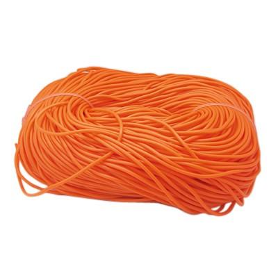 Gummisnøre 3 mm orange