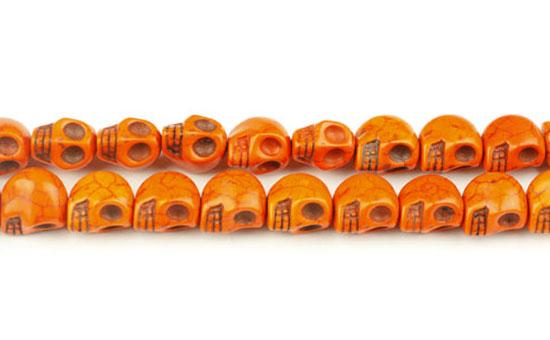 Magnesit skull orange 10x12 mm
