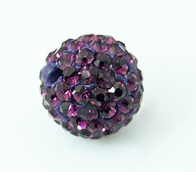 Rhinsten perle 8 mm lilla