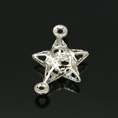 Vedhæng/link stjerne sølv