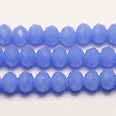 Glasperler 4x3 mm kornblå