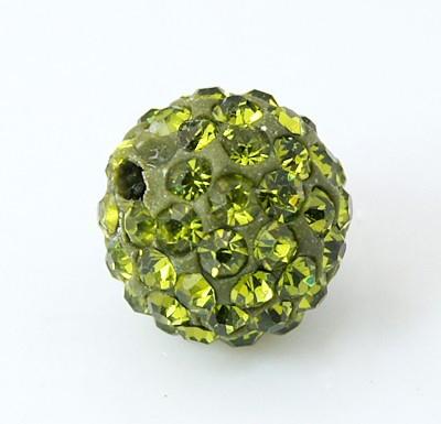 Rhinsten perle 8 mm grøn