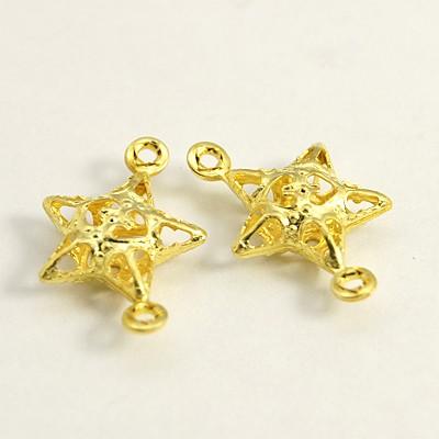 Vedhæng/link stjerne guld