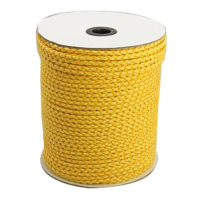Imiteret lædersnøre 4 mm gul
