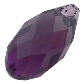 Swarowski crystal briolette lilla