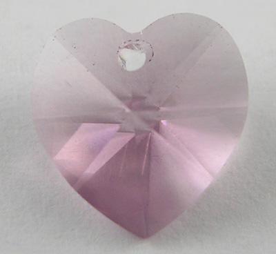 Swarowski crystal hjerte 10 mm lys pink