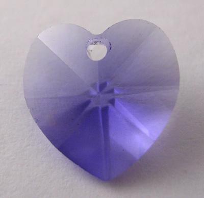 Swarowski crystal hjerte 10 mm lilla