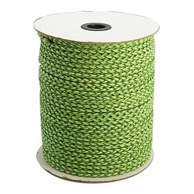 Imiteret lædersnøre grøn/lime 4 mm