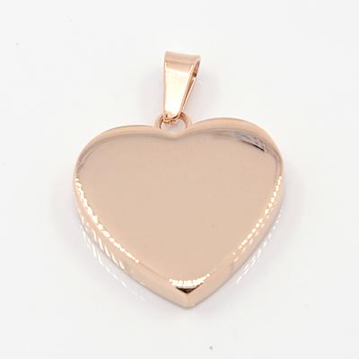 Rustfri stål vedhæng hjerte rose guld