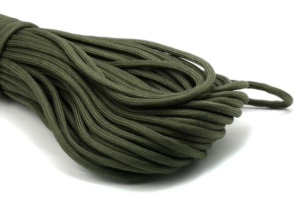 Faldskærmsline 4 mm Armygrøn