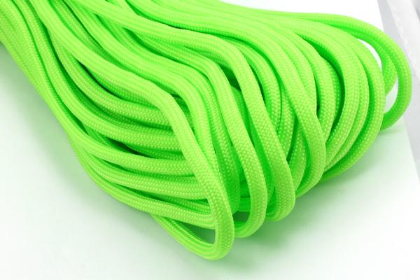 Faldskærmsline 4 mm Neon grøn