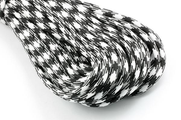 Faldskærmsline 4 mm Sort/Hvid camo