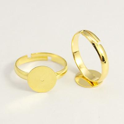 Fingerring med plade guldfarvet 19 mm