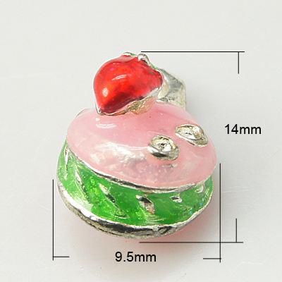 Vedhæng kagestykke 14x9,5 mm