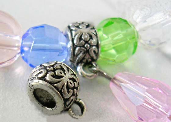 Tibetanske sølv perler Silver med loop 10 stk