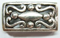 Tibetansk sølvperle 24 x 14 mm