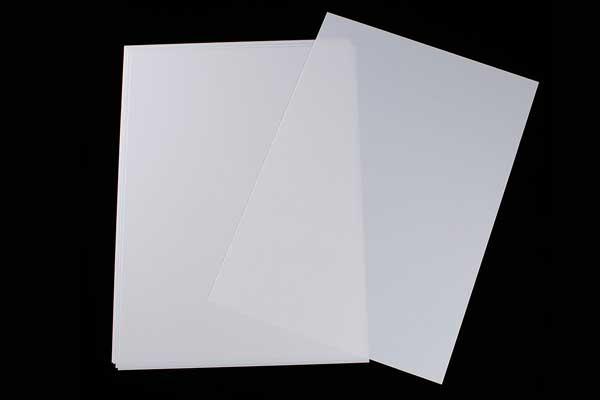 Krympeplast ark Hvid 29x20 cm