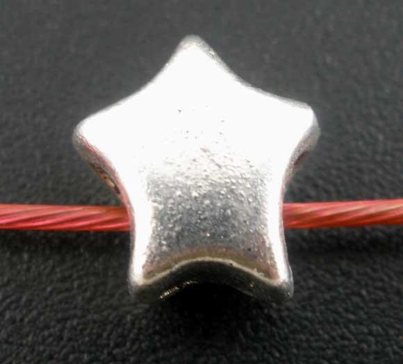 Metal perle stjerne 10 mm - 10 stk