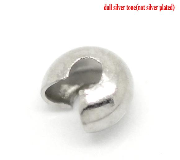 Knudeskjuler platinfarve 3 mm, 20 stk