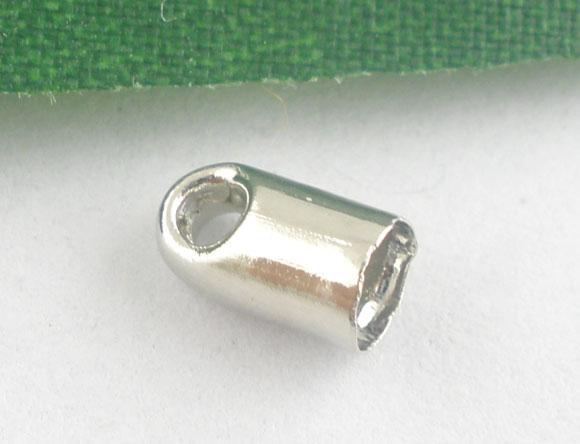 Enderør 6 x 4 mm platinfarve 20 stk