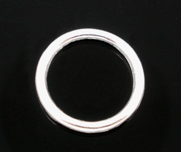 O-ringe Sølvbelagt lukkede 7 mm hul  20 stk