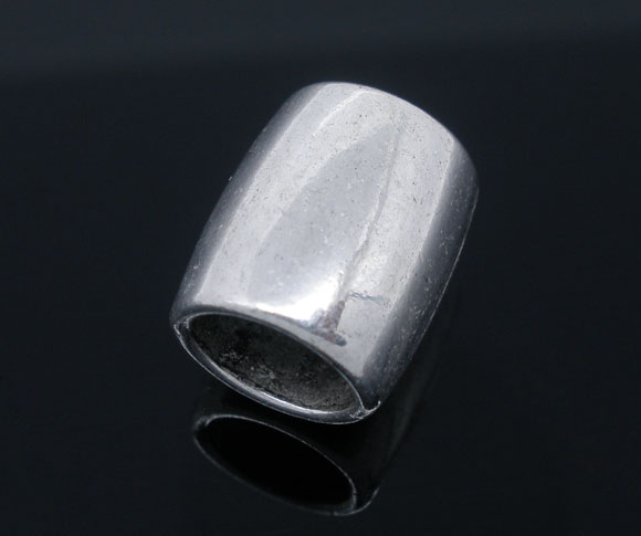 Metal perle 14 x 12 mm