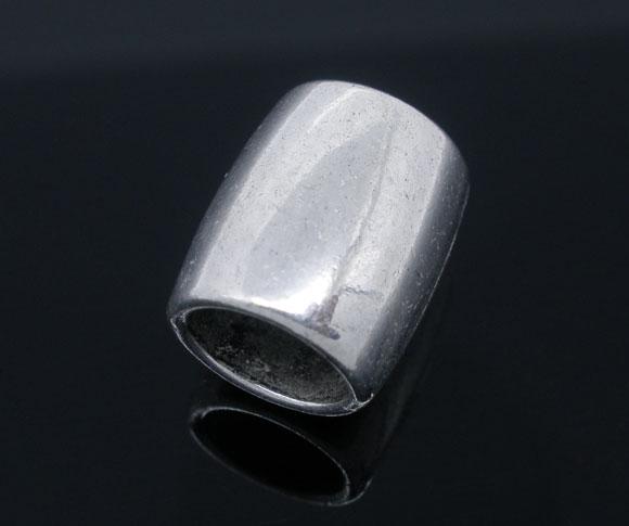 Metal perle 14 x 12 mm