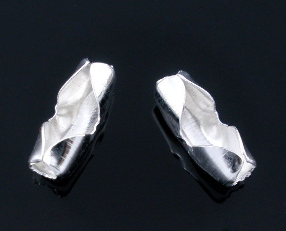 Lås til 2,4 - 3 mm kuglekæde sølvbelagt