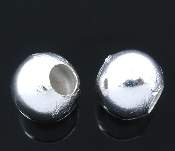 Perler sølvbelagt 8 mm 50 stk