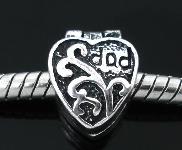 Clip stopper antik sølv farve