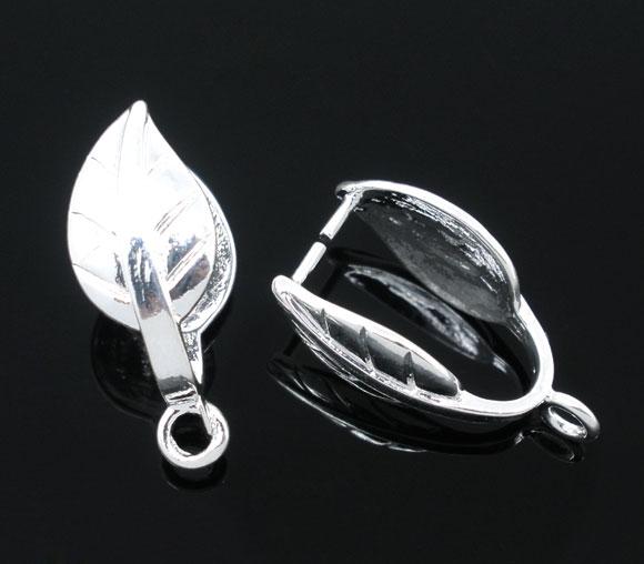 Vedhæng til perle sølvfarve 10x20 mm 10 stk