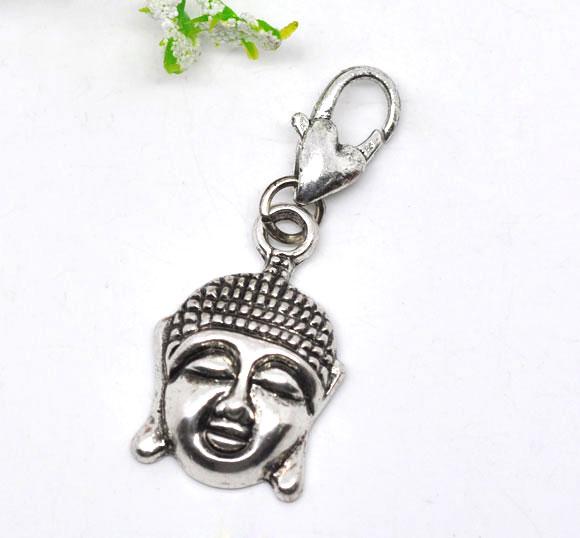 Clip on vedhæng Buddha