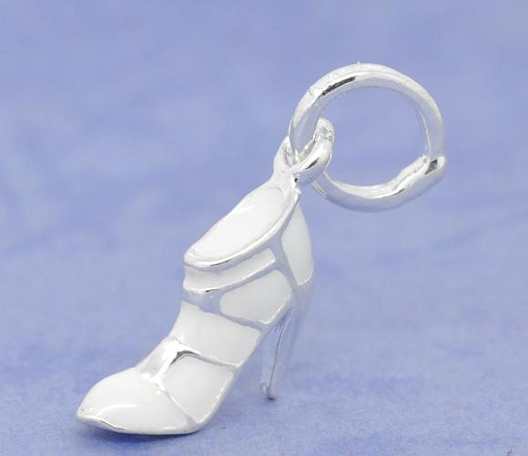 Vedhæng sko hvid