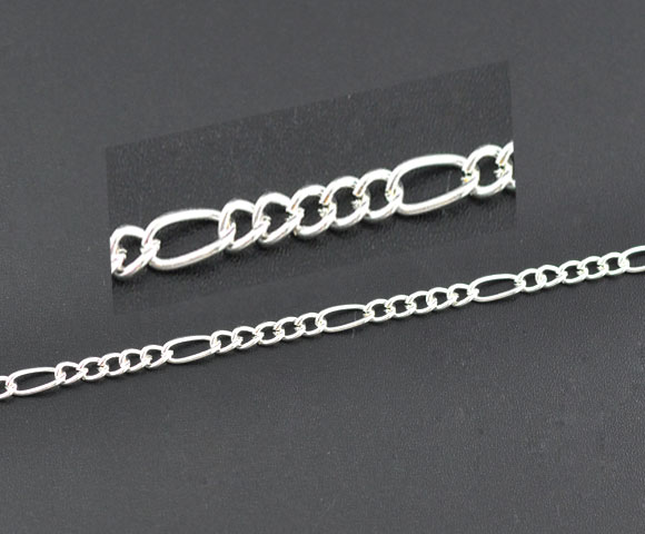 Kæde Sølvbelagt 7,5x3,5~4x3,2