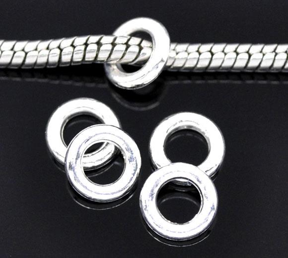 O-ringe Sølvbelagt lukkede 4,5 mm hul 20 stk
