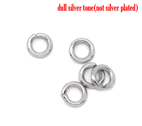 O-ringe rustfri stål 2,5 mm hul, 50 stk