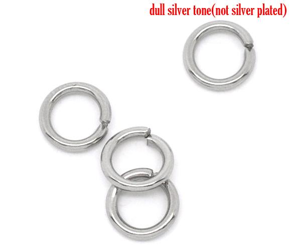 O-ringe rustfri stål 4 mm hul, 50 stk