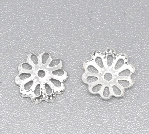 Perlehatte 9 mm Sølvbelagt 20 stk