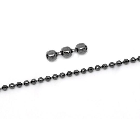 Kuglekæde gunmetal 2,4 mm