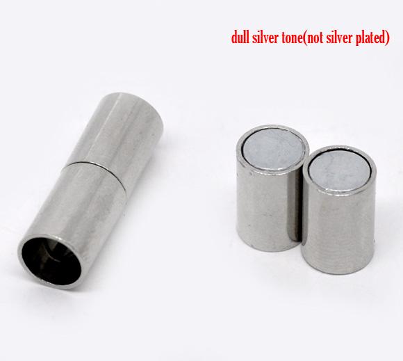 Magnet lås platin farve 6,6 mm