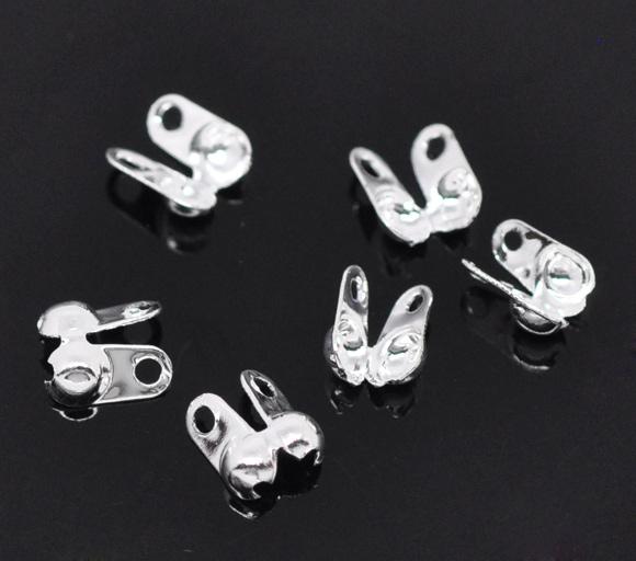 Endeøje til kuglekæde sølvbelagt til 2,4 mm kæde