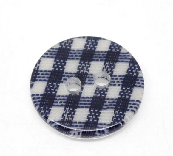 Knap 16 mm med tern blå