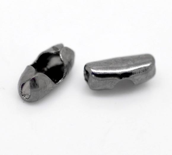 Lås til kuglekæde gunmetal 1-1,5 mm hul