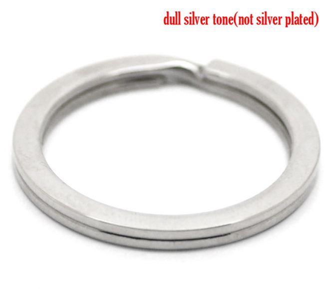 Nøglering rustfri stål flad 28 mm