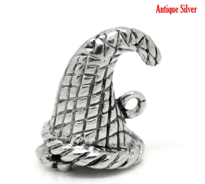 Nissehue antik sølv 18x14 mm
