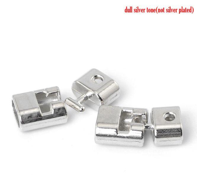 Bidsel lås 11 x 10 mm sølvfarve